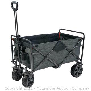 Mac Sports XL Folding Wagon with Cargo Net. Gray - New. Unused in box - Missing net - $79 - See Link