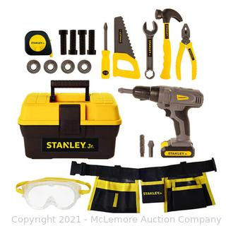 Stanley Jr. Mega Tool Set with Battery Operated Drill and Tool Belt - 21 piece Set - NEW
