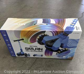 Jetson Saturn 3 Wheel Light-up Folding Scooter Blue - NEW - Great Christmas Gift! - LED lights - adjustable height - $49 - SEE LINK