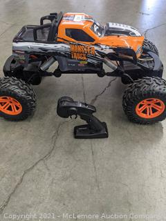 THIS IS BIG! - Power Drive Monster Truck Remote Control RC (8+ Years) - All Wheel Drive Rcok climbing Radio Controlled Vehicle - No box - Tested working - Appears New - NO BOX - SEE LINLK $279 on AMAZON