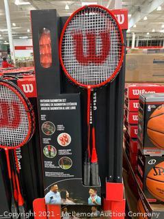 Wilson Badminton Set. Wilson Outdoor Badminton Kit - 4 rackets. 20ft net. shuttlecocks. Deluxe Carrying Bag - New Open Box