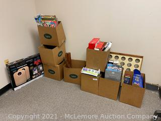 Assorted Games, Board Games and Video Games