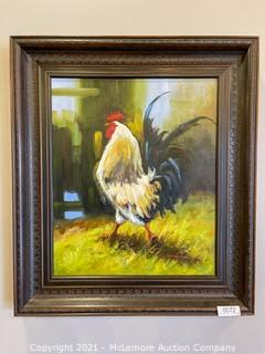 Framed Painting of Rooster by A.G. Robinson