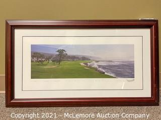 Pebble Beach Golf Links No.18 Lithograph by Patrick Drickey