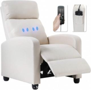 Recliner Chair for Living Room Massage Recliner Sofa Reading Chair Winback Single Sofa Home Theater Seating Modern Reclining Chair Easy Lounge with PU