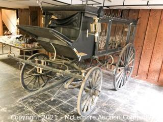Horse Drawn Hearse with Single or Double Pole Setup