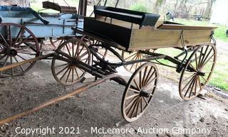 Horse Drawn Wagon with Single Tree Setup
