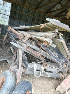 Assortment of Old Wagon Parts and Pieces for Parts or Repair