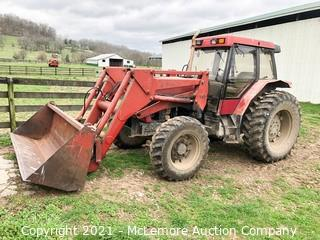 Case International 5310 Diesel Cab Tractor with 510 Front End Loader with 8' Bucket - Reserved for late pickup to use for load out