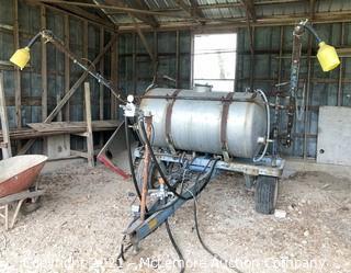 John Blue 300 Gallon 80-C 3-Point Hitch Boom Sprayer with Secondary 25 Gallon Spray Marker Tank