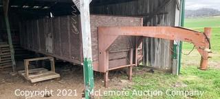 Gooseneck 20' Dual Axle Trailer with Wooden Box - Bill of Sale