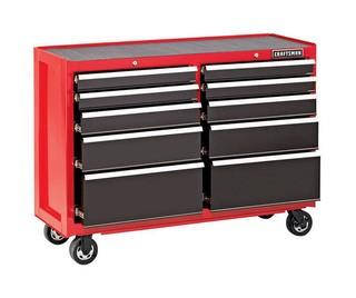CRAFTSMAN 2000 Series 52-in W x 37.5-in H 10-Drawer Steel Rolling Tool Cabinet (Red)