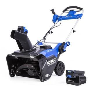 Kobalt 80-Volt Max 22-in Single-Stage Cordless Electric Snow Blower 6 Ah