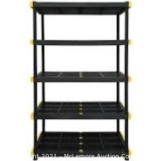 COMMANDER 20-in D x 48-in W x 72-in H 5-Tier Plastic Utility Shelving Unit
