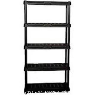 Blue Hawk 24-in D x 36-in W x 72-in H 5-Tier Plastic Utility Shelving Unit
