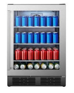 Hisense 140-Can Capacity (5.4-cu ft) Residential Stainless Steel Freestanding Beverage Center