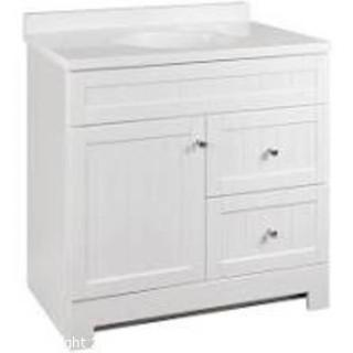 Style Selections Ellenbee 36-in White Single Sink Bathroom Vanity with White Cultured Marble Top