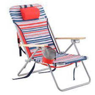Outsider Red/Blue Stripes Folding Beach Chair