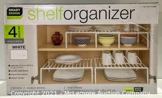 Smart Design 4pc Shelf Organizer (White)