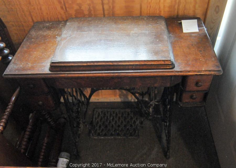 McLemore Auction Company Auction Antiques Glassware Interesting Singer Pedal Sewing Machine