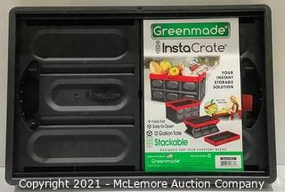 GreenMade InstaCrate 12 Gal Collapsible Storage Bin (Black/Black) - New Open Box