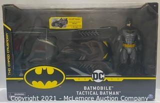 DC Batman Tactical Batman Figure & Batmobile Set -  NEW open box