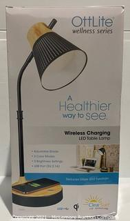 OttLite Wireless Charging LED Table Lamp - NEW (open box) - MSRP: $54