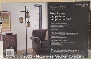 "Bridgeport Designs 73"" Artemis 3-Light Floor Lamp - NEW (open box) - MSRP: $109"