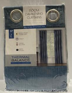 2-Pack Thermal Balance Room Darkening Curtains - NEW (open box)