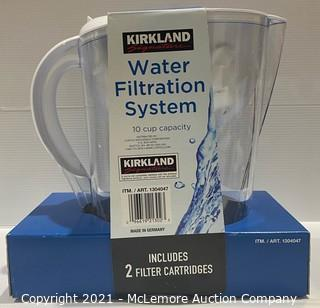Kirkland Signature Filtered Water Pitcher w/ 2 Filter Cartridges - NEW