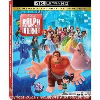 Disney Ralph Breaks The Internet 4K Ultra HD + Blu Ray + Storybook - NEW & SEALED