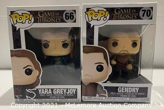 2-Pack Funko POP! Game of Thrones Vinyl Figures #66 Yara Greyjoy + #70 Gendry - NEW (open box) (boxes show light wear)