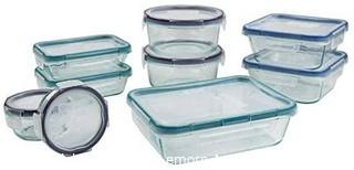 Snapware Pyrex 18pc Glass Food Storage Set - SOME LIDS CRACKING