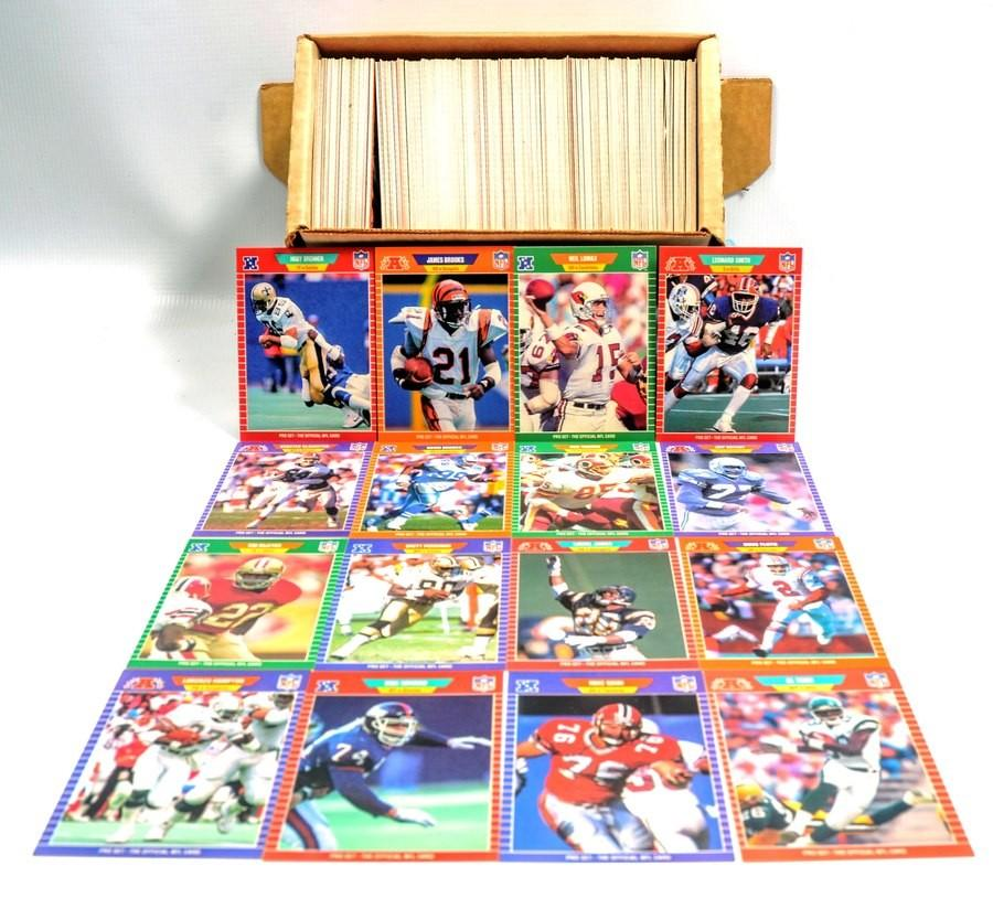 Assortment Of 1989 Pro Set Football Cards
