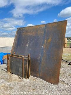 Assorted Steel Plates with Rack