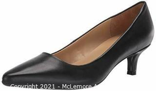 Naturalizer Womens GIA Classic Leather Pump Black Cushioned Insole, 9.5