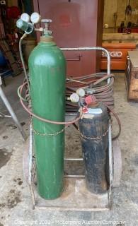 Oxygen / Acetylene Tanks, Hoses & Cart
