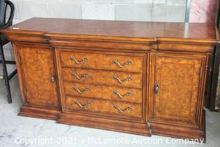 Burl Buffet Credenza 4 Drawers