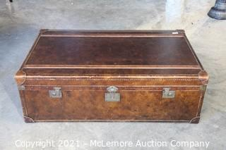 """Leather Trunk with Drawers  50"""" x 30"""" x  17"""""""