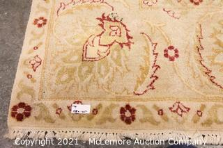 Tan and Red Afghan Rug  Hand Made Wool  118 x 165