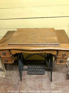 Antique Sewing Machine Cabinet and Base