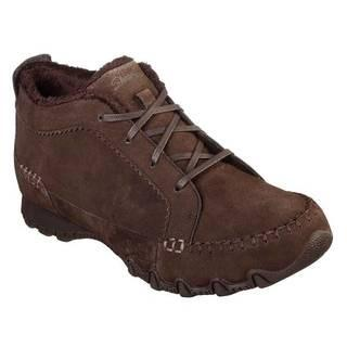 SKETCHERS LACE UP BOOTIES BIKERS LINEGE   - BROWN SIZE 6