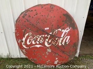 4 Foot Coca Cola Button