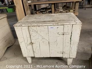 """Old White Cabinet 24""""x21""""x32"""""""