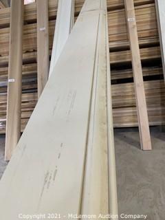 "48 Linear Feet of 6 1/4"" Solid poplar Base"