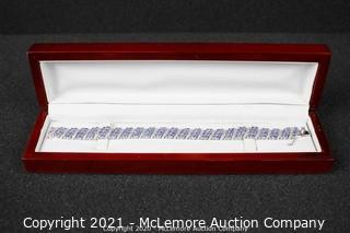 16.33ct Genuine Tanzanite Bracelet MSRP $4495