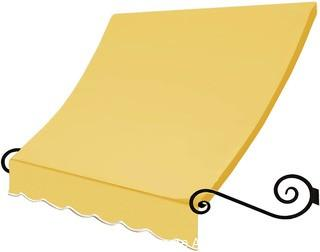 Awntech 4-Feet Charleston Window / Entry Awning, 56 by 36-Inch, Light Yellow