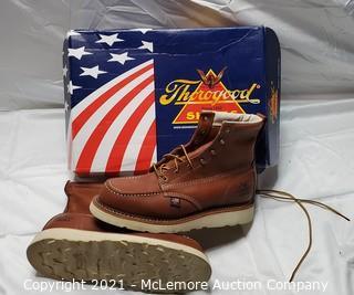 Thorogood Leather Mocasin Toe Leather Work Boot sz 8