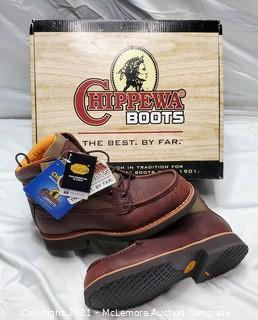 """Chippewa Boots Briar with Shark Tip 6"""" Work Boot sz 7"""