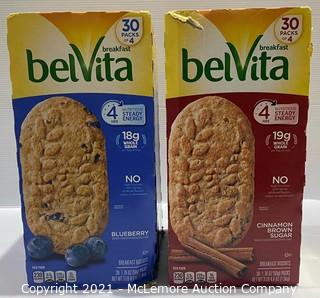 2-Pack Breakfast BelVita Blueberry + Cinnamon Brown Sugar Breakfast Biscuits - OPEN BOX
